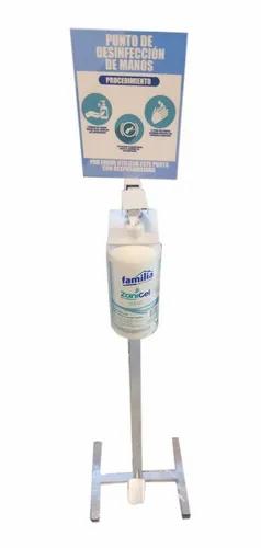 Dispensador de gel antibacterial de pedal.