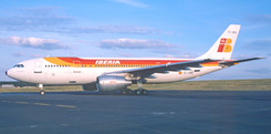 The second Airbus A.300 to land at Newcastle Airport came at the beginning of the 1984 summer season, a substantial Aviaco charter programme that year including a Saturday late afternoon Palma rotation flown by the six-strong Iberia A.300 fleet - EC-DLH operated the first flight on 5th May. The flight provided excellent variety and all six of the carrier's A.300s had visited at least once by the end of June - regular sights at Heathrow, but for enthusiasts of a certain generation, seeing them at Newcastle on often balmy summer Saturday evenings was certainly memorable; the summer of 1984 was after all when our foreign charter programmes got really interesting, the Iberia A.300s often being on the ground alongside two JAT Boeing 727s! The 'AO1074/5' returned during 1985 also, but had been re-designated 'AO1110/1' for the last summer of Iberia A.300 'op' at Newcastle Airport during 1986. The six aircraft were (1984/5/6 visit totals in brackets) - EC-DLE (3/2/3), EC-DLF (4/5/4), EC-DLG (8/3/5), EC-DLH (4/1/3), EC-DNQ (5/3/8) & EC-DNR (2/9/3), five of which are surprisingly still extant, and in storage at Valencia (excluding EC-DLE which was b/u at Madrid in 1999). Our photo above shows EC-DNQ just about to taxy on just one of those memorable summer evenings on 22nd July 1986.