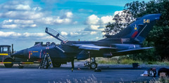 The very first Tornado to touch-down at Newcastle Airport, ZA541 of the TWCU photographed outside the Bellman hangar on 23rd September 1981.