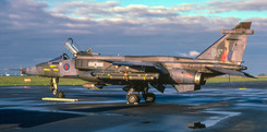 Indicative of a busy military month during November 1984, a stunning photograph of 17Sqn Jaguar GR.3 XZ369/BF which diverted in on Monday 19th.