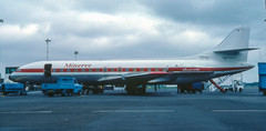 Minerve Caravelle F-BRGU at Newcastle on 8th June 1984.