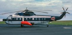 G-AYOY photographed at Newcastle on 14th September 1977 displaying its old BEAH livery.