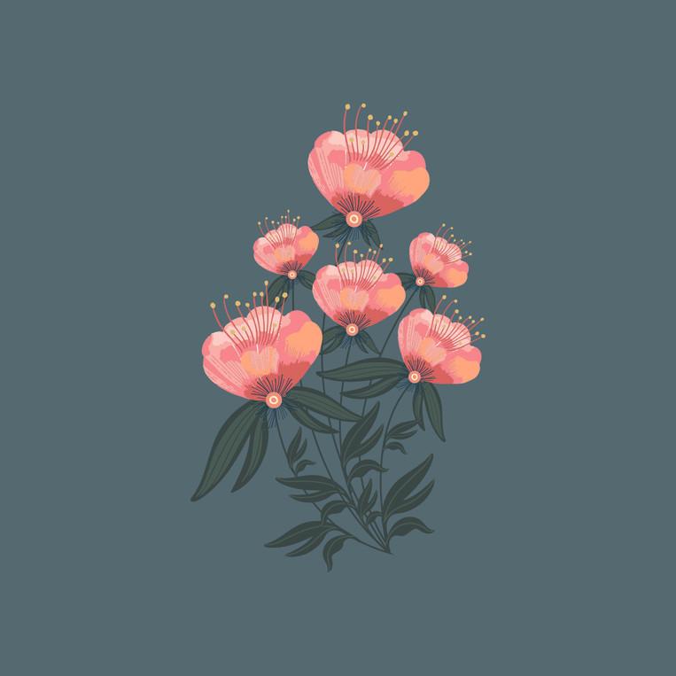 Tropical Blossomy Motif