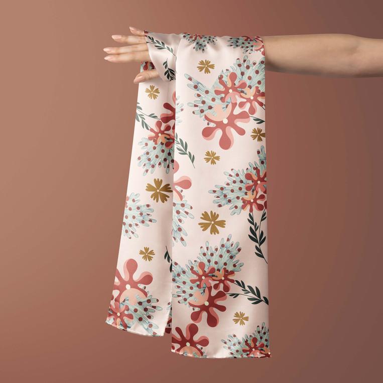The Autumn print on a Silk Scarf