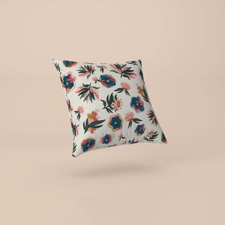 Tropical Blossomy Cushion