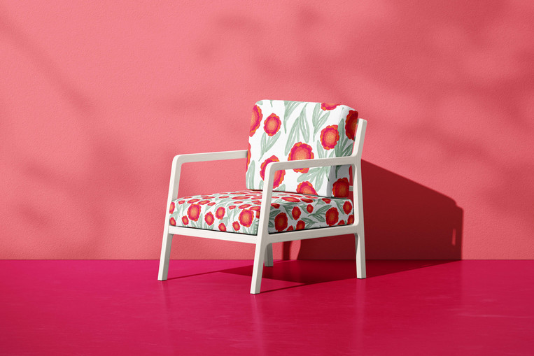 Flower Puff Upholstery