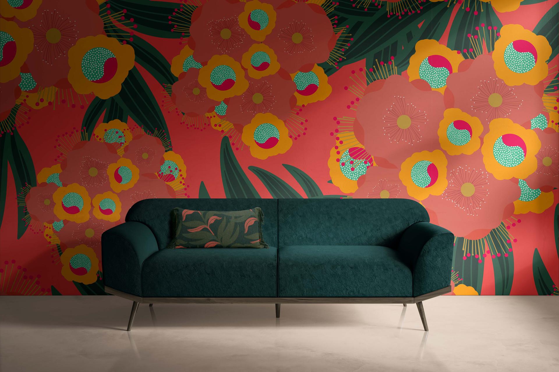 Tropical Blossomy Wallpaper