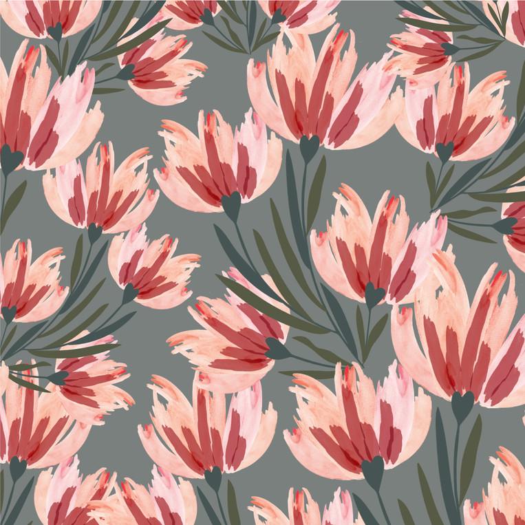 The Flower Puff Print
