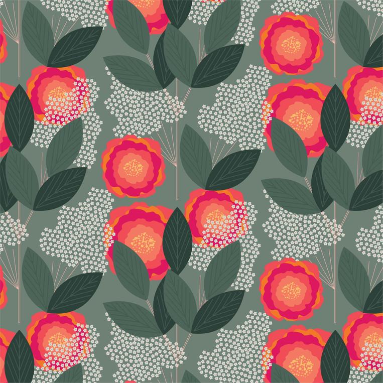 Flower Puff Print