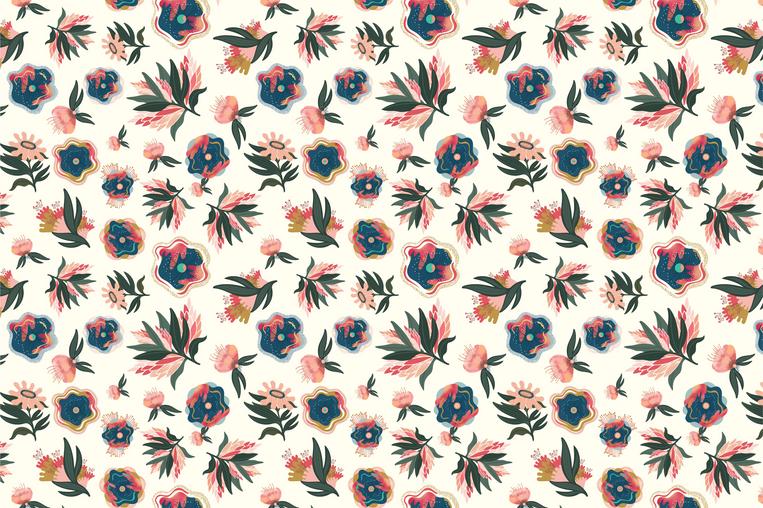 Tropical Blossomy Print