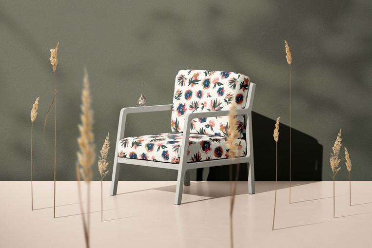 Tropical Blossomy Upholstery