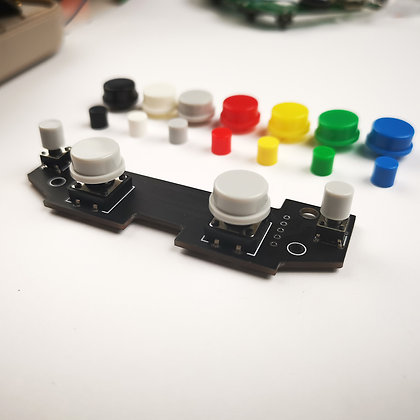 Back Button PCB with Switches and Coloured Caps