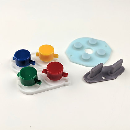 Gameboy buttons and conductive silicone pads
