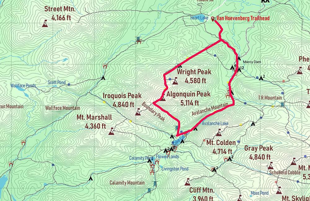 Algonquin through Avalanche Pass Route