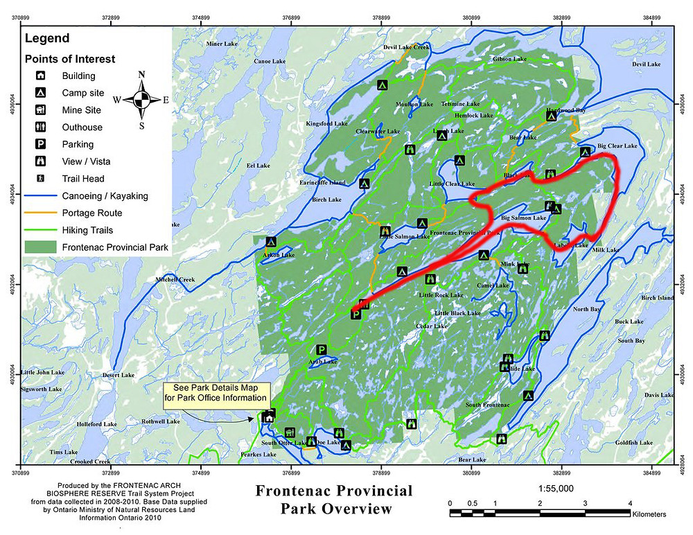 Ultimate One Day Paddle Route Frontenac Provincial Park