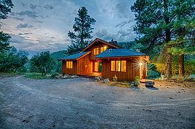 Mountain Cabin Twilight