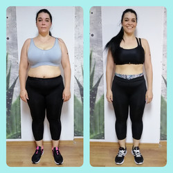 6 weeks transformation before&after