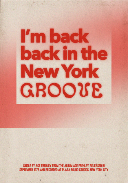 I'm Back in the new york groove