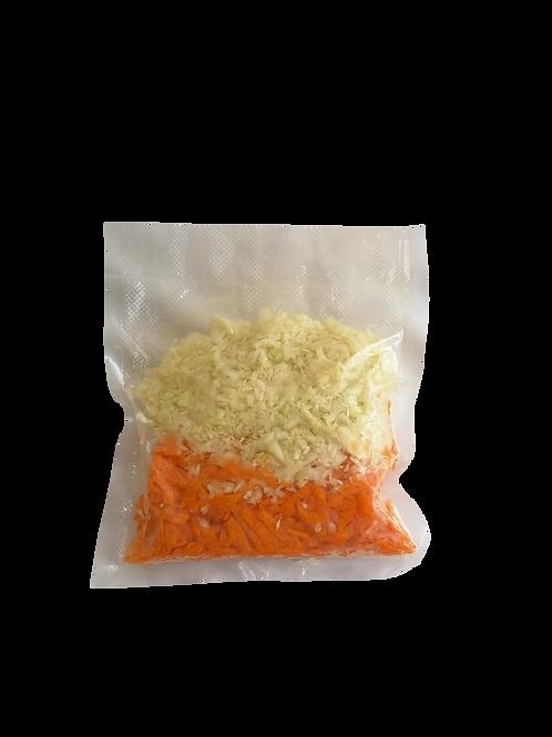 Repollo Verde y Zanahoria Al Vacío