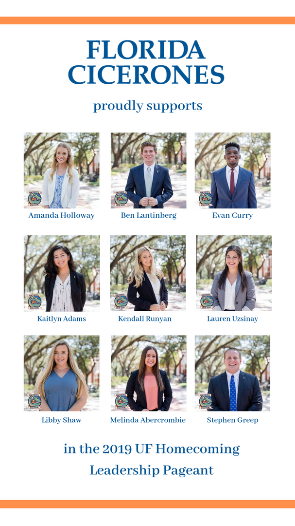 in the 2019 UF Homecoming Leadership Pag