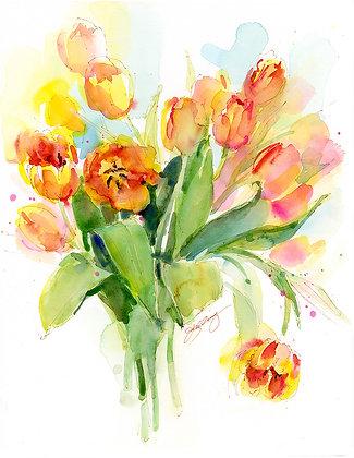 Orange Tulips - Prints