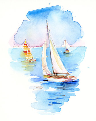 Sailboats Three