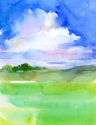 Clouds w/Green Meadow - Prints