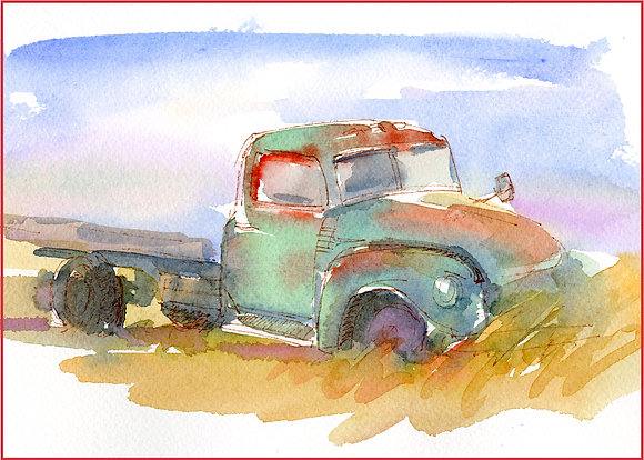 Old Green Truck - 8x10