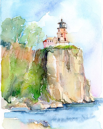 Lighthouse at Cliff - Prints