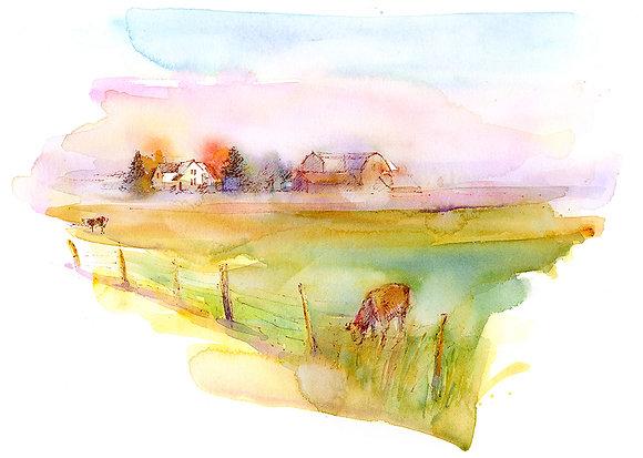 Farm Morning - Prints