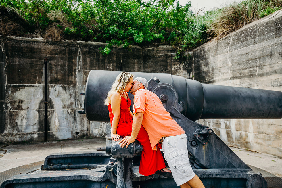 Engagement photo shoot at Fort DeSoto by