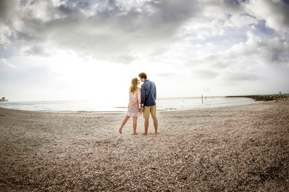 Engagement photo shoot at Fort DeSoto by www.timelesstampa.com