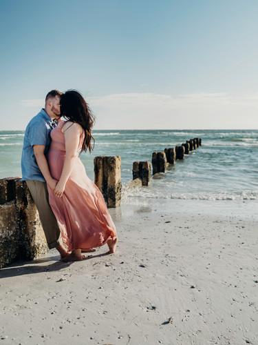 Tampa beach engagement timeless photogra