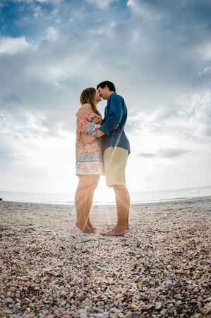 Engagement photo at Sand key - www.timelesstampa.com