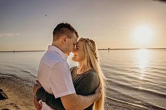 Tampa beach engagement timeless photogra