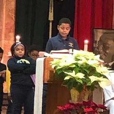 Speaking at Mass