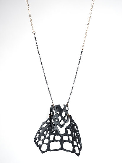 Black on Black #3 Long Necklace