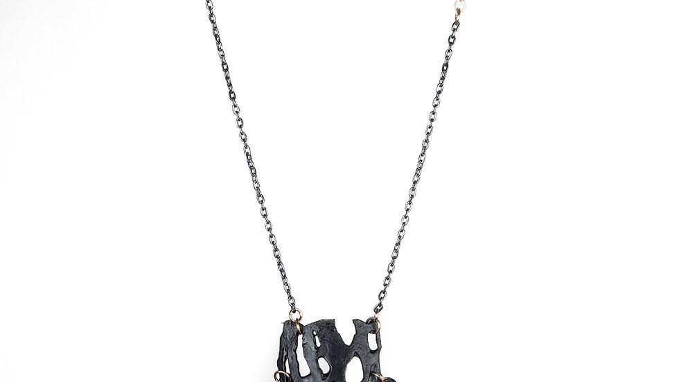 Black on Black #3 Long Necklace
