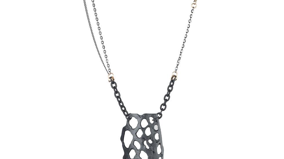 Black on Black Long Necklace