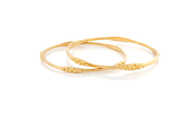 Gold Stingray Thin Bracelet