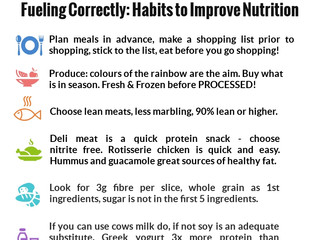 Habits to improve nutrition