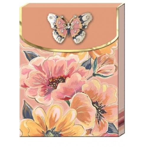Carnet de notes avec broche - Florette Bouquet