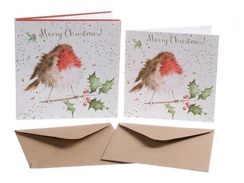 Set cartes de Noël - Robin