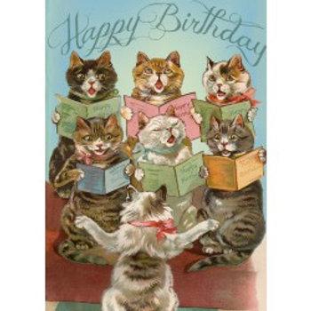 Carte - Happy birthday  (singer cats)