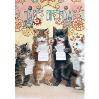 Carte - Happy Birthday ( choral cats)