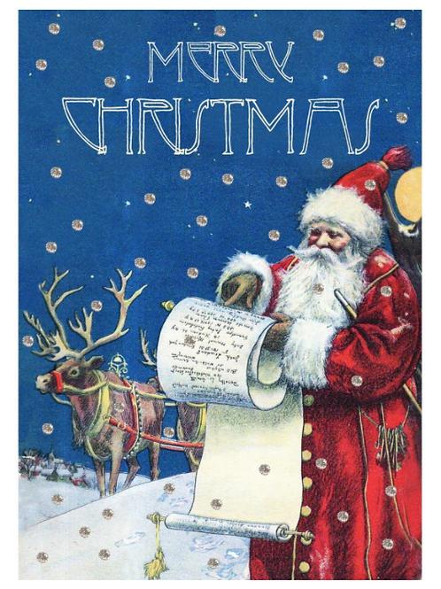 Carte de Noël - Père Noël