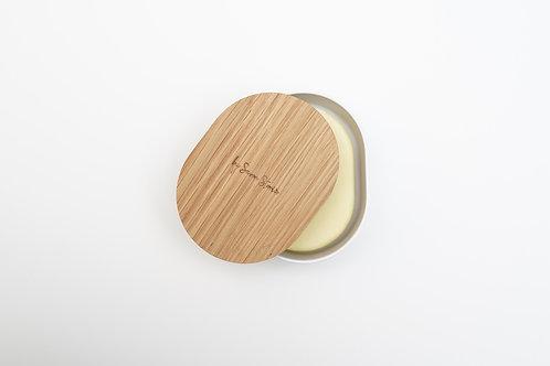 Boîte en bambou pour baumes solides  - 70g