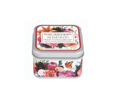 Savon voyage dans boîte métal - Sweet Floral Melody