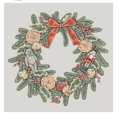 Set de cartes de Noël - Couronne