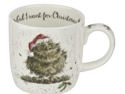 Mug wrendale Noël - Chouettes